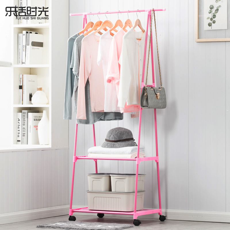 Simple Triangle Coat Rack Stainless Steel Assembled Storage Holders Moving Closet Furniture Living Room Clothes Hanger