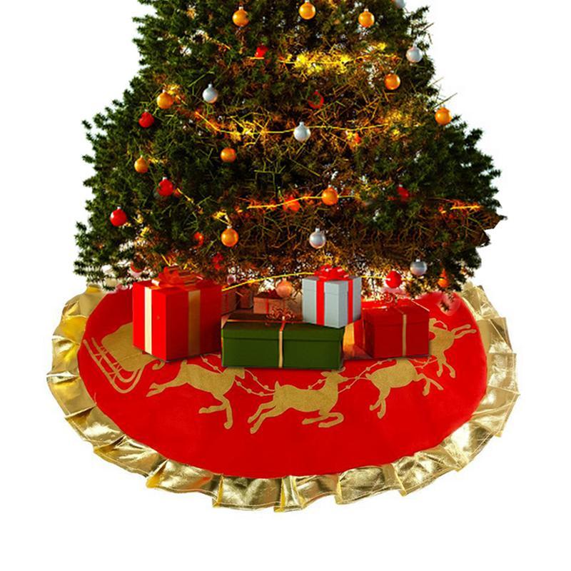 f91a8d6646 New Christmas Tree Skirt Christmas Decorations Christmas Tree Milu Deer  Pull Car Snow Patter Tree Skirt Christmas Supplies