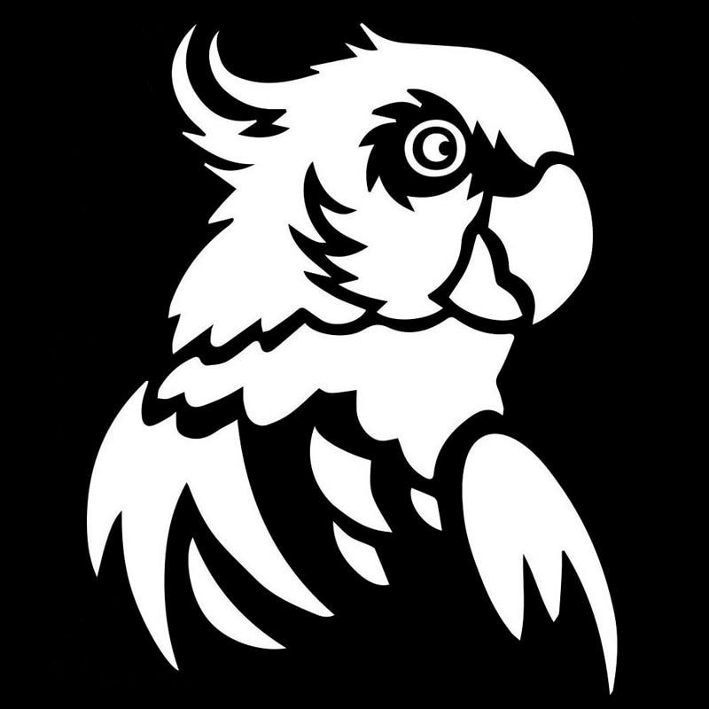 12cm15 1cm Parrot Bird Fashion Stickers Decals Vinyl Car Styling