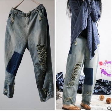 New product release in the summer 2017, the original design cowboy cotton loose big yards of women's haroun pants in the winter of 2016 new product the national wind original design thickened cowboy cotton women cotton coat loose big yards