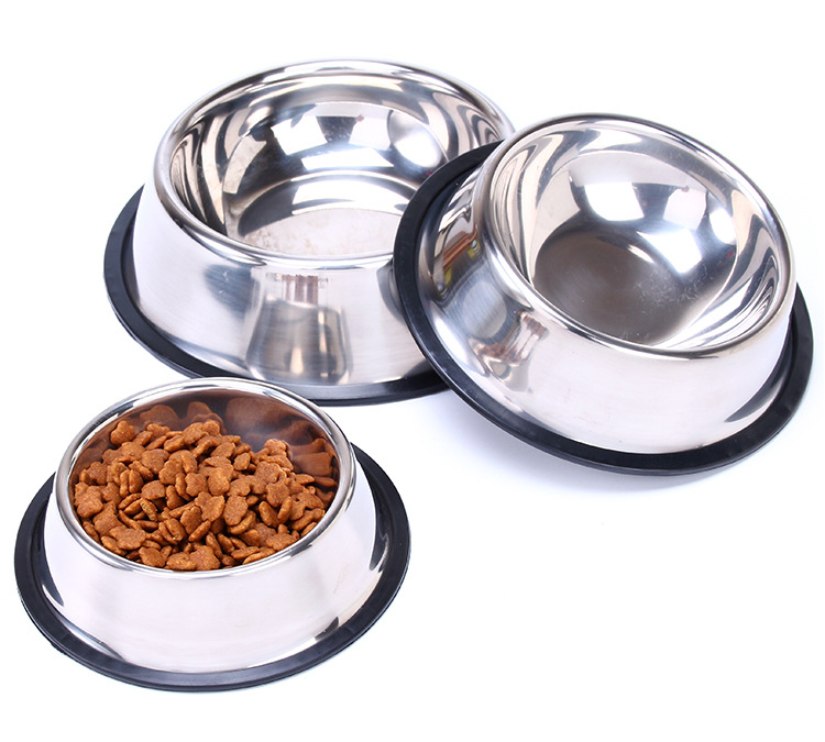 Stainless Steel Dog Bowl Sport Travel Pet Dog Cat  Food Feeder Outdoor Drinking Water Fountain Pet Feeding Tool Cartoon Style #5