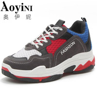 2018 Pairs Outdoor Street Fashion Casual dad Sneakers Women Mesh Breathable Trainers Shoes Walking Driving Shoes Lightweight