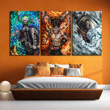 3 Piece White Beard Pirate Core Cadre Ace Marco One Piece Anime Poster Drawing Art HD Wall Painting for Home Decor(China)