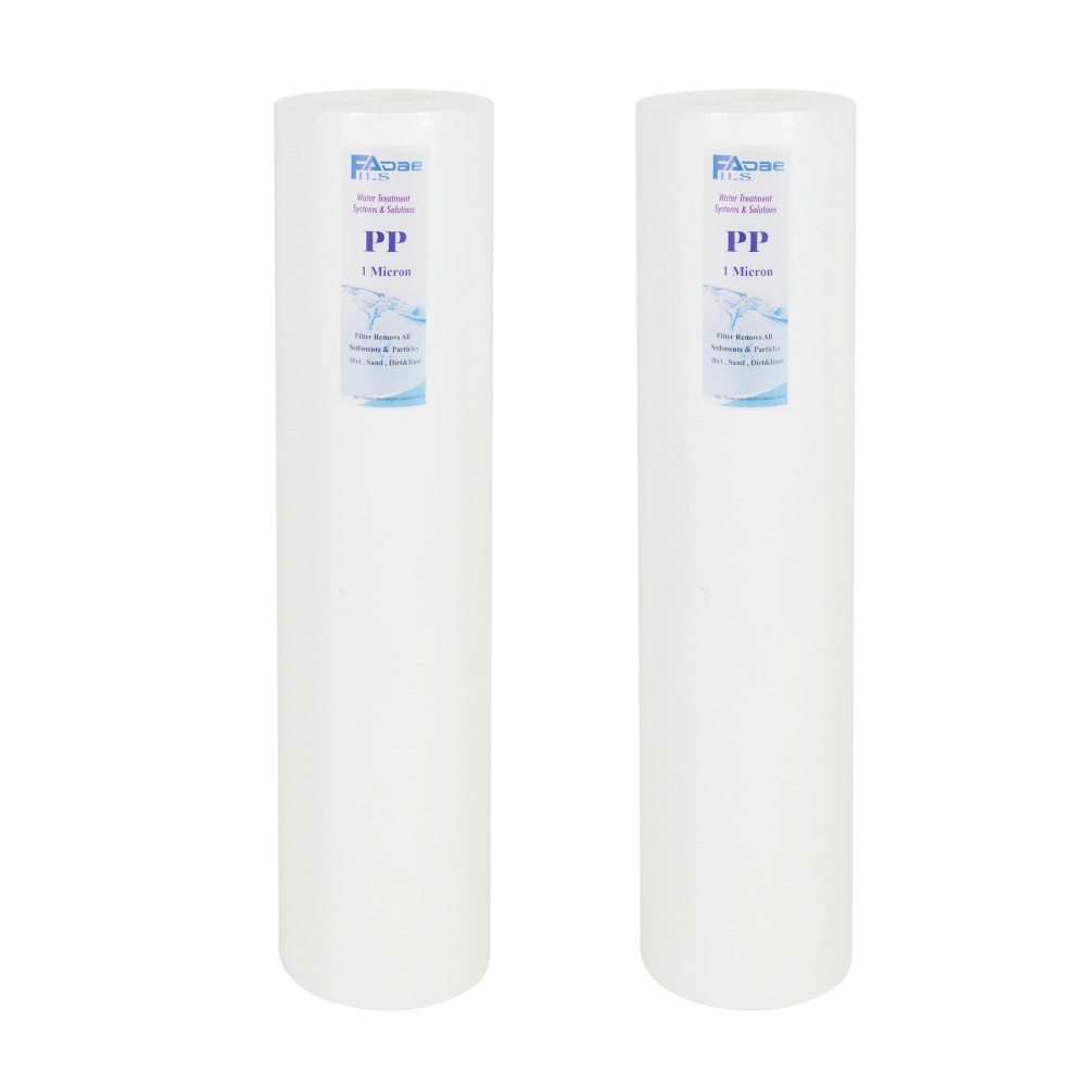 Big Blue Melt Blown Whole House Water Filter (2 pack): Reduces Sediment ,Dirt,Particles - 5 Micron Water Filter, 20 L x 4.5 OD living with music