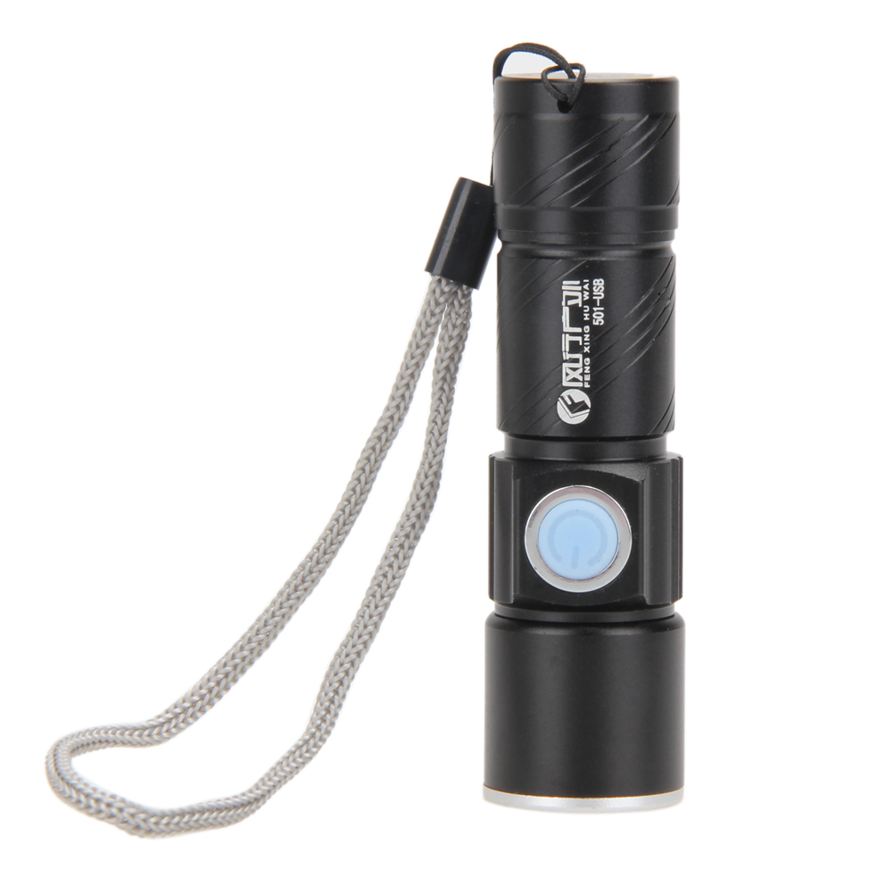 800LM LED Torch Zoomable Waterproof USB Rechargeable Flashlight Outdoor Hiking Camping Hunting Torch Super Bright Light Lights