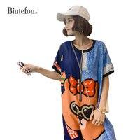2019 Summer hot drilling bling Jumpsuits fashion cartoon graffiti loose pants women chic Jumpsuits