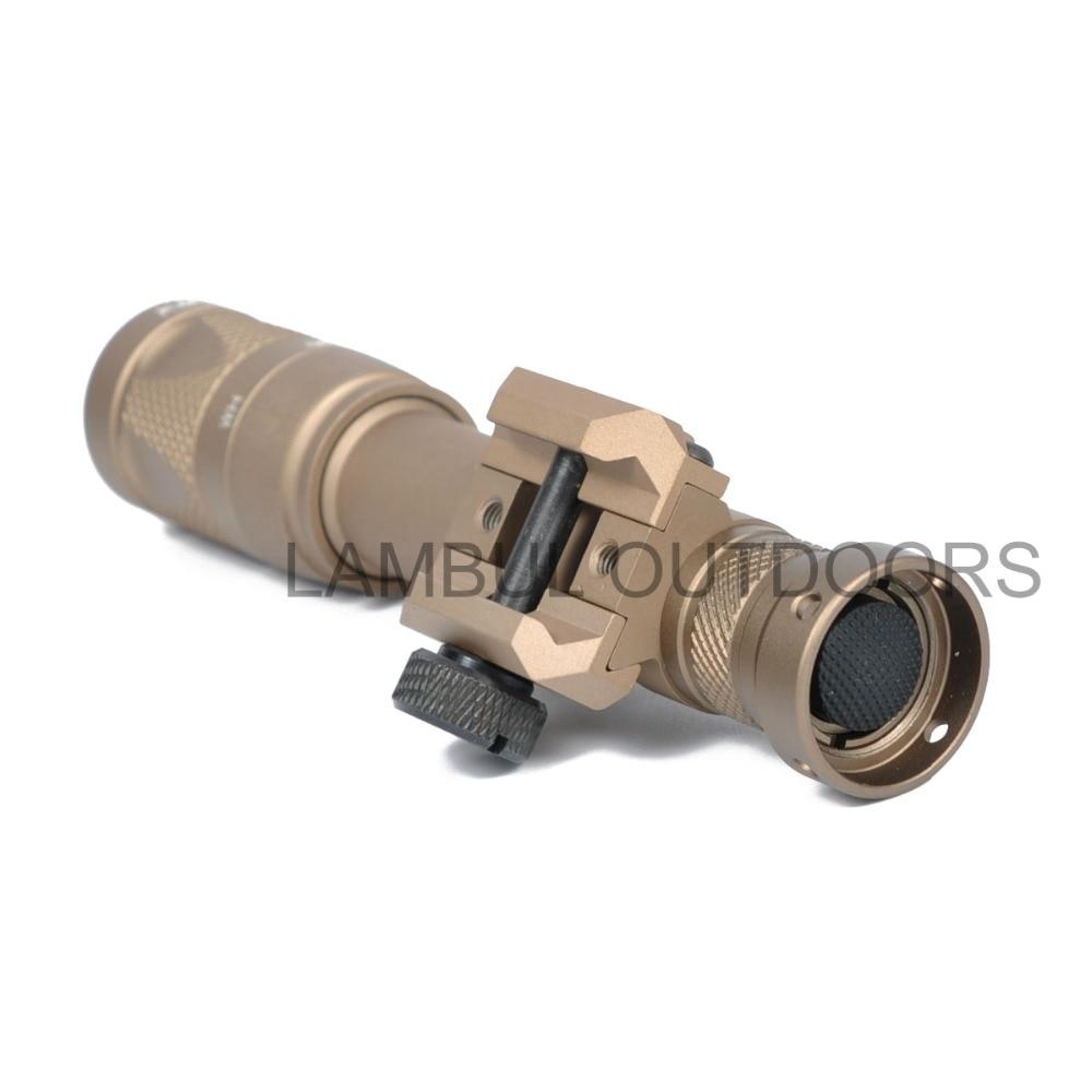 lanterna pistola arma luz lantrena para 20mm weaver picatinny ferroviario 05
