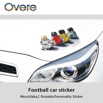 Overe Cartoon Car Headlight Body Stickers Football Stars Styling For Fiat Punto Volkswagen VW Polo Passat B7 B8 Golf 5 6 7 image