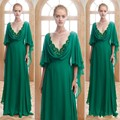 H007 Vestido De Festa Vintage Mother of the Bridal Dresses 2016 Plus Size Chiffon Formal Pageant Evening Dress robe de soiree