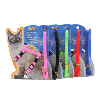 I-shaped Pet Products 1 Pc Pet Traction Harness Belt Chest Strap Adjustable Durable Cat Kitten Halter Collar Nylon