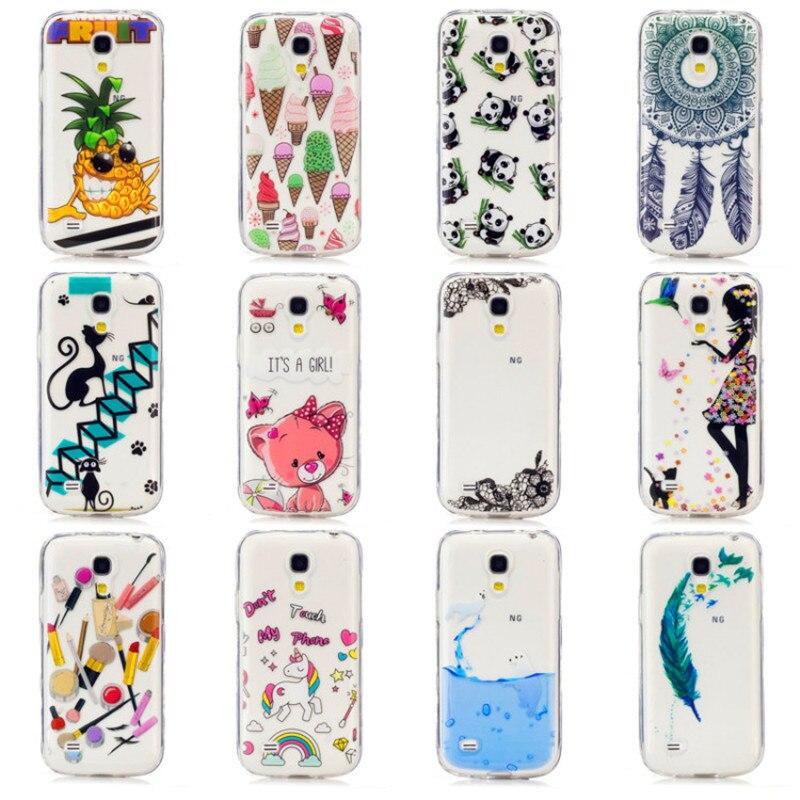 Moda pintura transparente case para samsung galaxy s5 mini s 5 mini accesorios d
