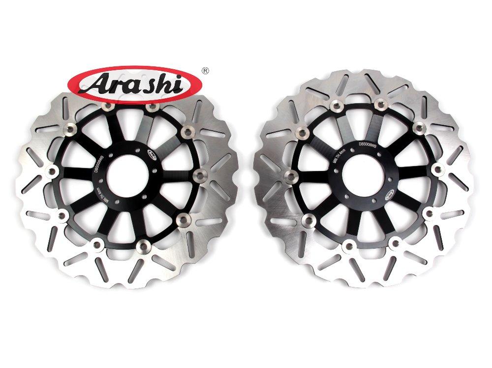Arashi 1 Pair CNC Front Brake Disc Rotors For HONDA VTR1000 F FIRESTORM 1997 1998 1999 2000 2001 2002 2003 2004 2005 2006 2007 ring of fire blue brake disc rotors covers for honda goldwing gl1800 2001 2014