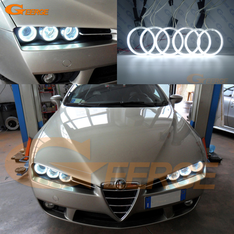 Til Alfa Romeo 159 2005 2006 2007 2008 2009 2010 2011 Fremragende Ultralykt belysning CCFL Angel Eyes kit Halo Ring