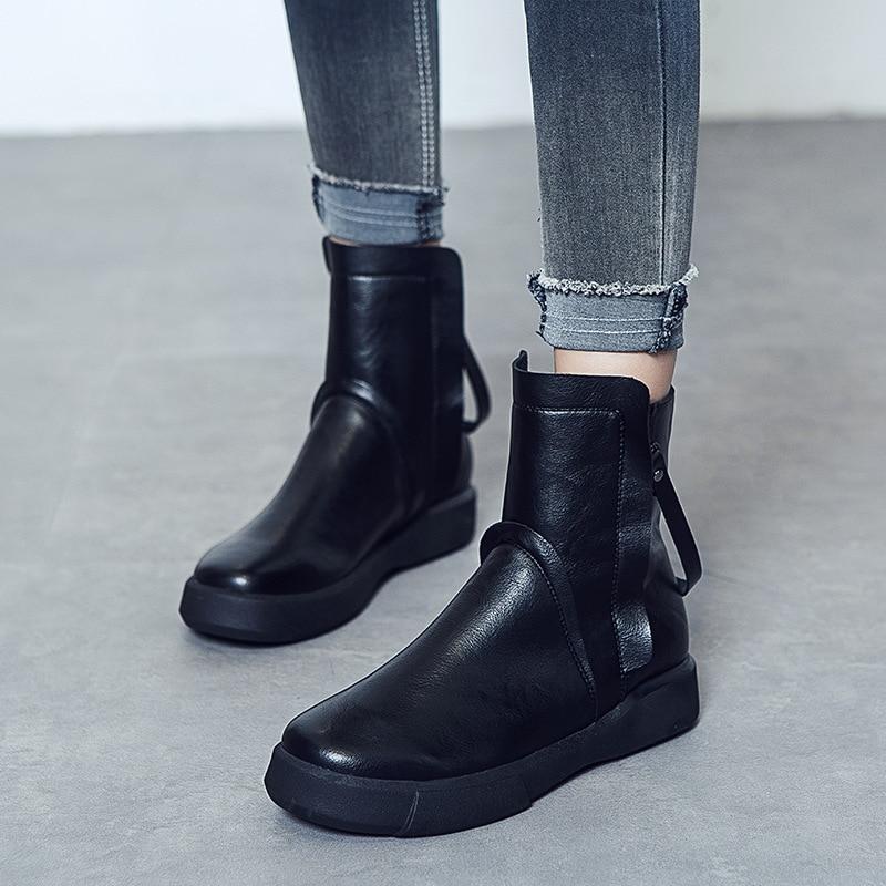 ChaussuresNoir Coton Bottes Femmes Velvet Velours Britannique Nouveau Enfants brown Hiver Vent Velvet Plus Dans Casual black Plat Rétro De 2018 Chaud Le brown ChrxtsQd