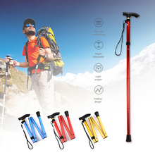 Outdoor Folding Lightweight Foldable Easy Folding Aluminum Metal Walking Sticks Mountain-Climbing
