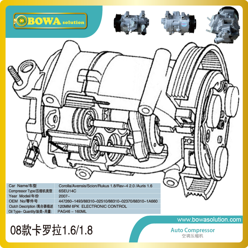 Swash compressor is working as cooling engine in automobile air conditioner system, please inquiry us correct price with OEM NOs r410a van roof mounted air conditioner horizontal compressor