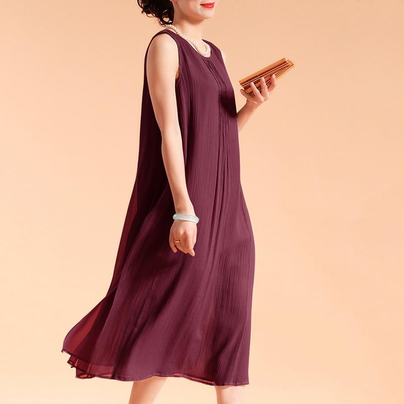 EaseHut Women Sleeveless Summer Dress 2019 Boho Beach Casual Ruched Slit Lined Midi Linen Dress S-5XL Plus Size Dresses elbise 2
