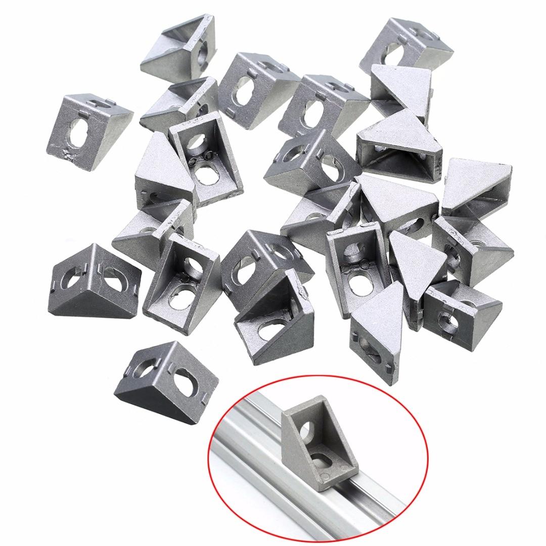 25pcs-durable-silver-aluminum-2020-corner-bracket-20x20x17mm-solid-cast-for-20mm-extrusion-cnc-routers