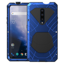 For Oneplus7 Pro Phone Case Heavy Duty Protection Armor Metal Cover Anti fall Aluminum Full Protective Casings