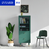 [InYard original] living corner high cabinet / TV side cabinet, glass storage, sideboard, living room, Nordic, simple, modern