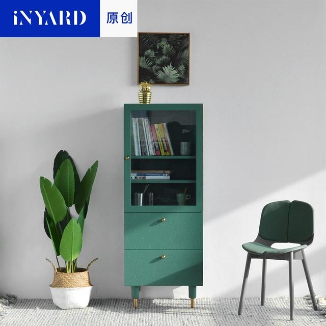 InYard Original Ecke HochschrankTV Seitenschrank Glas Lagerung - Hochschrank wohnzimmer