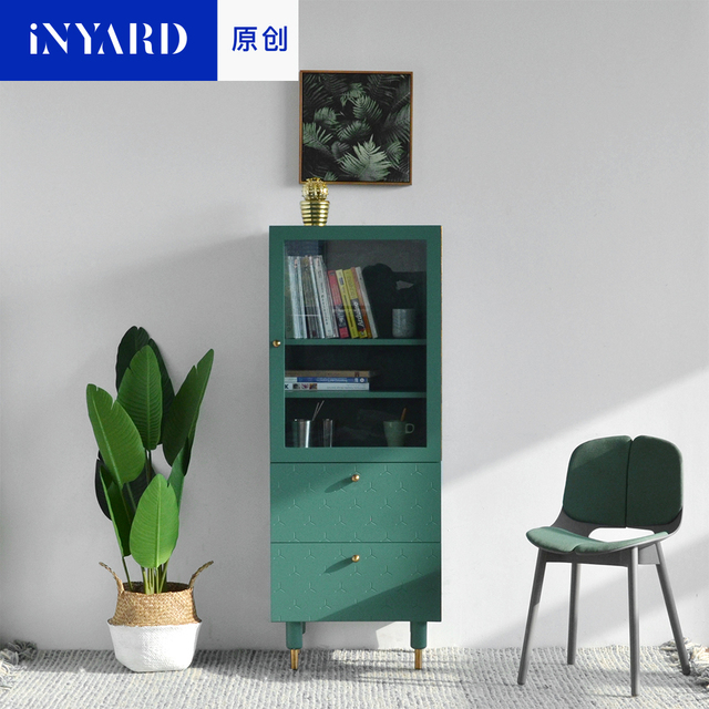 [InYard Original] Living Corner High Cabinet / TV Side Cabinet, Glass  Storage, Part 33