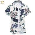 Super Large Size Floral National Style Chemise Homme 7XL 6XL Brand Clothing Cotton Camisa Masculina Hawaiian Men Shirt 2017 New