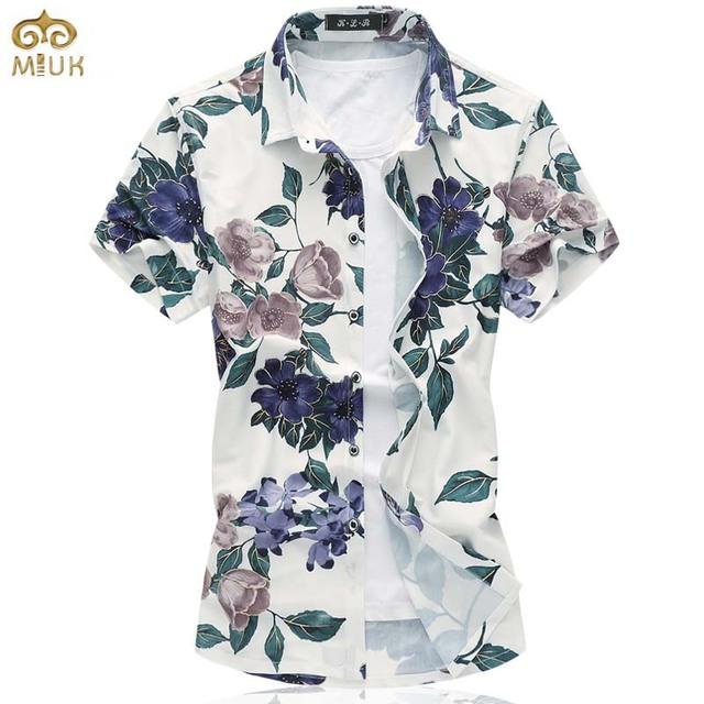Tamanho super grande estilo nacional floral chemise homme camisa masculina de algodão havaiano clothing marca 6xl 7xl camisa dos homens 2017 novo
