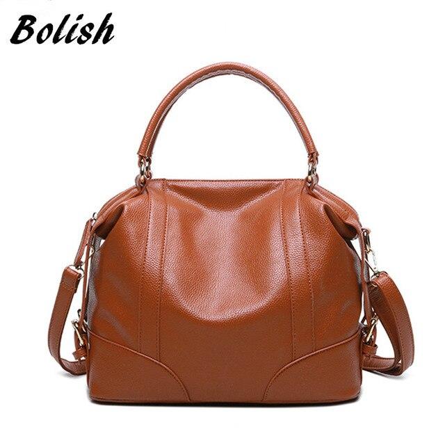 e0b08ddd00 Bolish new women bag European and American wind soft pure color leather  handbag women messenger bags