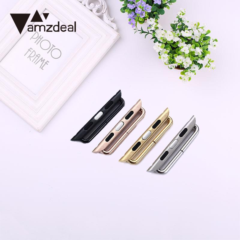 Amzdeal Watch Band Connector Adapter Clasp Connection Buckle For Apple Watch Series 42MM
