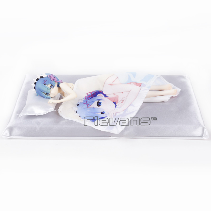 Anime Re Life in a different world from zero Rem Sleep Sharing Ver. 1/7 Scale PVC Figure Collectible Model Toy 22cm re life in a different world from zero ram maid with mop ver pvc figure collectible model toy 22cm