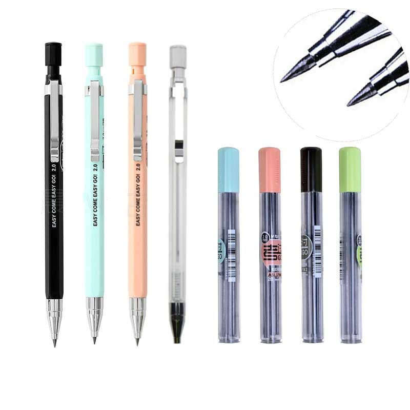 Kawaii Candy Color Mechanical Pencil 2.0mm Pencil Refill Rod For Office Writing Supplies Kids Gift Exam Spare Korean Stationery