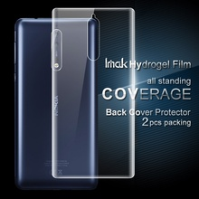 IMAK 2 Pcs Packing for Nokia8 Full Display screen Full Protecting Again Smooth Hydrogel Protector Movie for Nokia eight