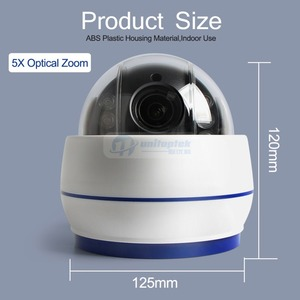 Image 3 - HD 1080P אלחוטי כיפת PTZ IP מצלמה WIFI אוטומטי פוקוס 5X זום עדשה מקורה אודיו + SD כרטיס חריץ לילה לילה ONVIF WI FI אבטחת מצלמת