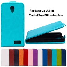 Smart Mobile Phone Cases For Lenovo A319 4.5 inch A 319 Cover Hoods PU Leather Shell Vertical Magnetic Holster Back Cases