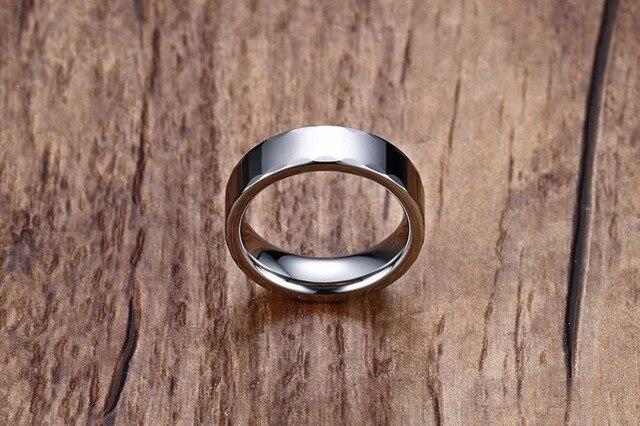 Купить кольцо мужское из вольфрама серебристого цвета 6 мм