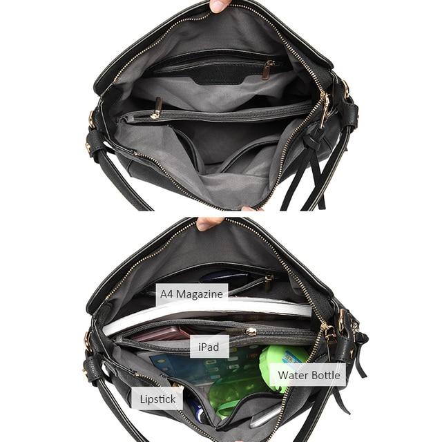 REALER handbags women shoulder crossbody bag female casual large totes high quality artificial leather ladies hobo messenger bag 5
