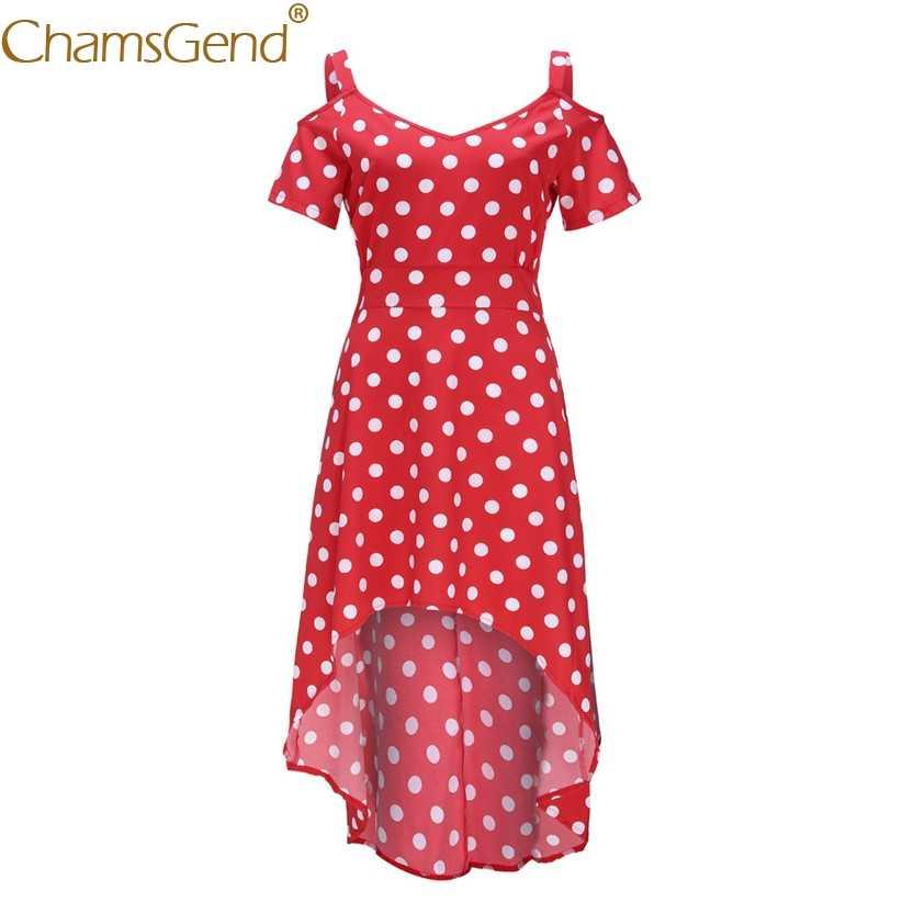 Sınıf Nokta Baskı yaz elbisesi Kadın Seksi Kapalı Omuz Kısa Kollu Artı Boyutu Parti Elbise XL, 2XL, 3XL, 4XL, 5XL 90514