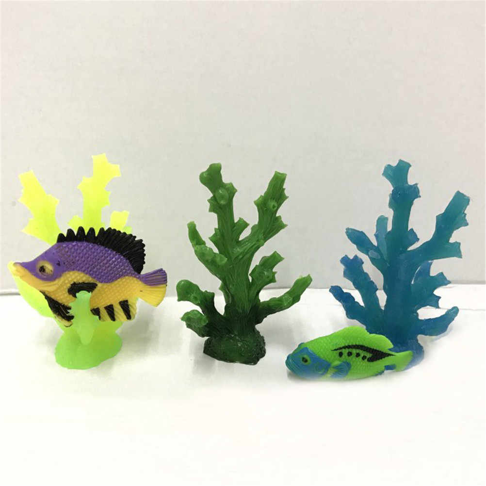 3 ピース/ロットサンゴの木アクションフィギュア模型玩具カクレクマノミドーリー魚海サンゴコレクション学習 & 教育子供クリスマスギフト