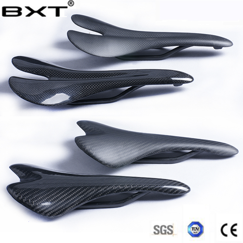 New Bicycle Saddle Glossy/Matte bike Carbon Saddle 3K Full Carbon Fiber MTB Saddle Road/MTB Bike Carbon Saddle Seat bike parts full carbon fiber mtb road bicycle saddle bicycle parts white red green yellow black front seat mat artificial leather