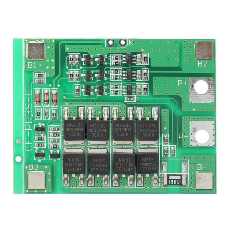 3S 24A Li-ion Lithium Battery 3.7V 18650 Charger Batteries Protection Board Green Free Shipping 5pcs 5v 1a micro usb 18650 li ion lithium battery charging protection board charger module tp4056 for arduino
