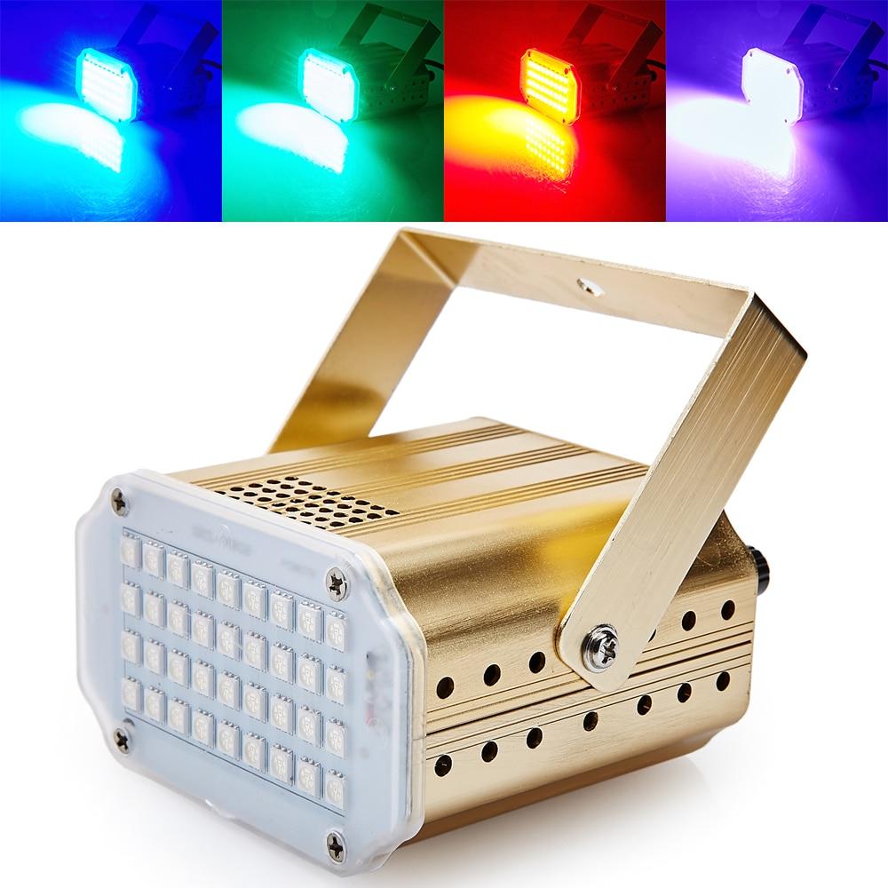 Mini contrôle sonore 36RGB SMD5050 LED Stroboscope Disco Party DJ Équipement Lumière Stroboscopique Divertissement À La Maison Spectacle Musique Spectacle Éclairage