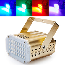 Mini Sound Control 36RGB SMD5050 LED Stroboscope Disco Party DJ Equipment Strobe Light Home Entertainment Music Show Lighting