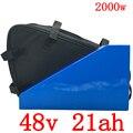 Бесплатная таможенная пошлина 48 в 1000 Вт 2000 Вт литиевая батарея 48 В 20AH батарея для электровелосипеда 48 В 20AH батарея для электровелосипеда с 50A...