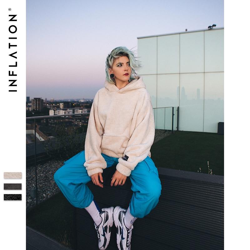 La inflación sudaderas con capucha de los hombres 2018 Otoño Invierno sudaderas Hip Hop Casual suéter de algodón Skateboard Sudadera con capucha de lana de invierno con capucha 8778 W