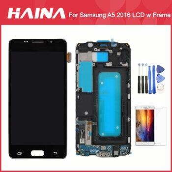 A510 三星銀河 A5 2016 液晶 A510F A510M SM-A510F ディスプレイタッチスクリーンデジタイザ W/フレームホームキーフレックス充電器フレックス
