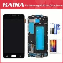 A510 ЖК-дисплей для samsung Galaxy A5 2016 ЖК-дисплей A510F A510M SM-A510F Дисплей Сенсорный экран планшета w/рамка Главная Кнопка Flex Зарядное устройство Flex