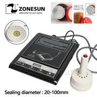 ZONESUN taşınabilir indüksiyon yapıştırma makinesi alüminyum folyo Capper bal paketleme ekipmanları şişe kapatma makinesi