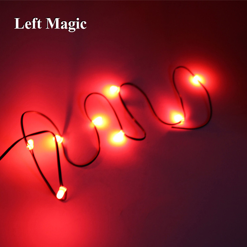 1 Pcs Flahing Appearing Light Up String Magic Tricks Lights Up String Magic Props Close Up Stage Magic Mentalism Comedy Classic