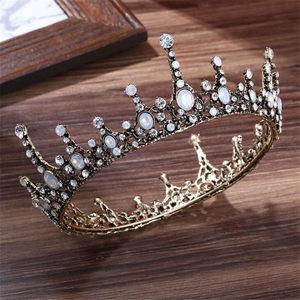 Image 5 - בציר 3 משפט הבארוק כלה נזר הכלה מלכת מלך קראון חתונת שיער תכשיטי אביזרי נשים תחרות נשף כיסוי ראש